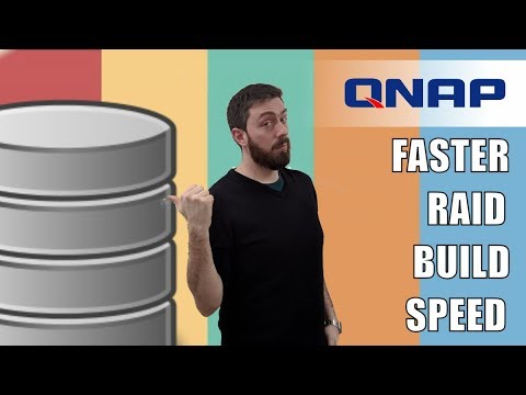 QNAP NAS - How to Speed up RAID Creation