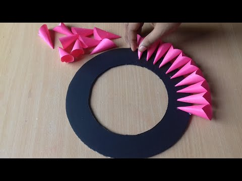 Paper Craft For Home Decoration | Wall Hanging Ideas | Paper Flower Wall Hanging | Paper Craft