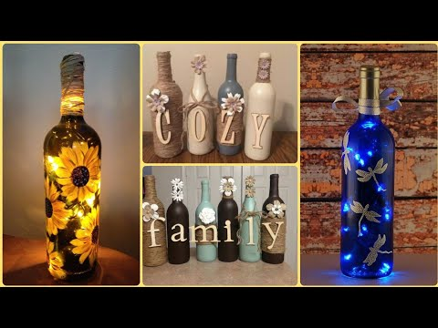 diy-wine-bottle-craft-ideas-||-wine-bottles-for-home-decor-||-wedding-wine-bottles