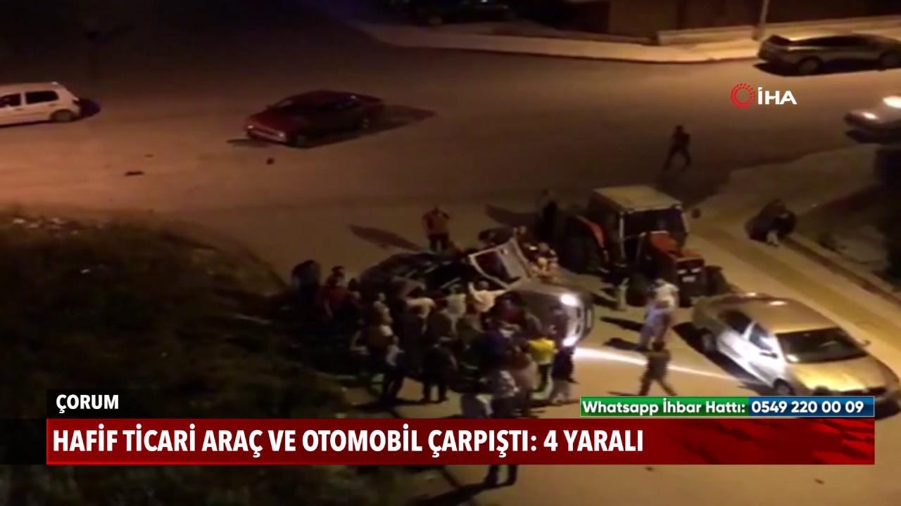 Hafif ticari araç ve otomobil çarpıştı: 4 yaralı