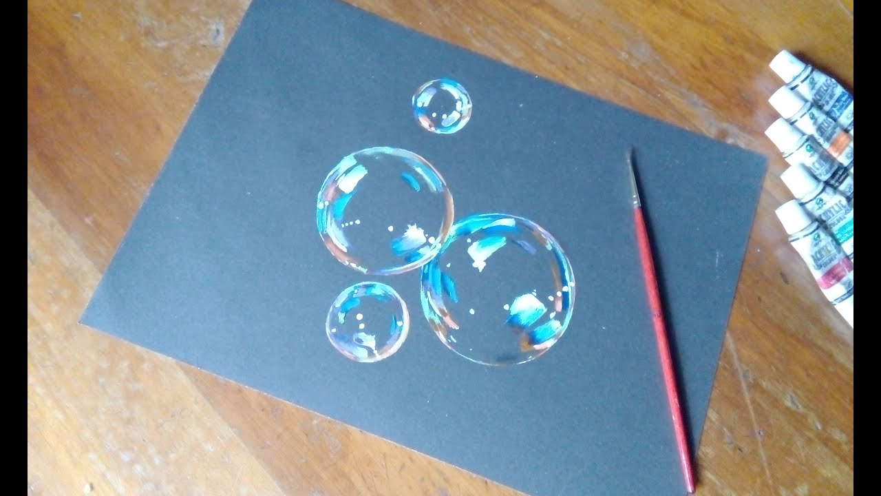bubbles painting how to paint bubbles tutorial youtube