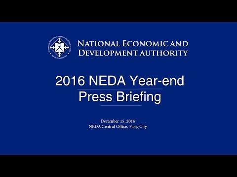 2016 NEDA Year-End Press Briefing