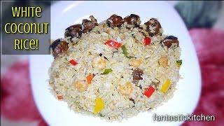 White coconut rice!😋😋