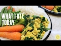 WHAT I EAT IN A DAY | HEALTHY VEGAN TOFU SCRAMBLE RECIPE