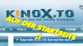 AUF DER STARTSEITE VON KINO(X).TO GEGEN ACTA