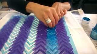 Fabric Painting - DIY Summer Placemat using Pebeo Setacolour Fabric Paint - Crafty Crusaders