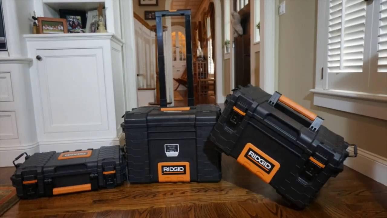home depot ridgid pro organizer tool box kaizen foam tool box
