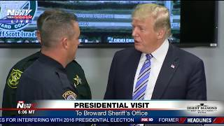 SURPRISE VISIT: POTUS visits Broward Sheriff
