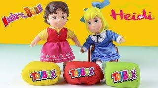 Maşanın Marketi Heidi Clara Sürpriz Hediye Alıyor Oyun Hamurunda Toybox Çizgi Film
