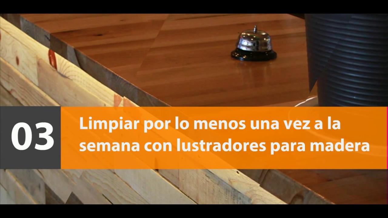Mantenimiento del mobiliario de madera - YouTube