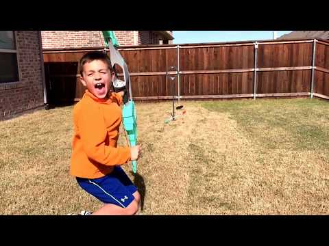 Dude Perfect Signature Bow and Arrow from NERF No Look Trickshot