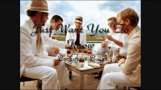 Backstreet Boys - Just Want You To Know (HQ)