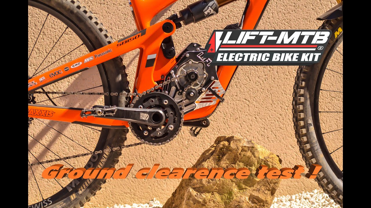 Test / Garde au sol et sauts avec le moteur pédalier LIFT MTB