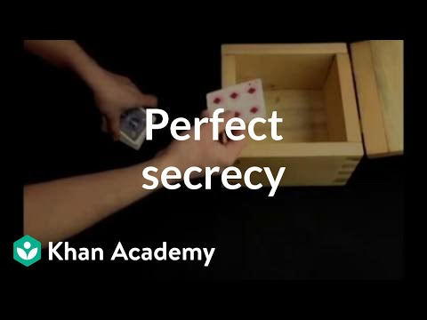 Perfect secrecy | Journey into cryptography | Computer Science | Khan Academy