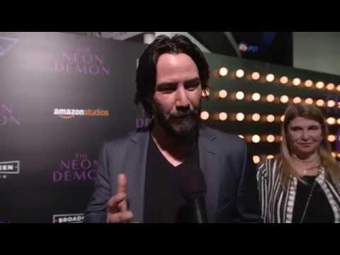 The Neon Demon Premiere Interview - Keanu Reeves