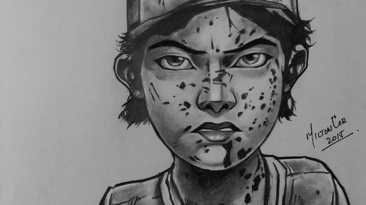 Drawing Clementine From The Walking Dead