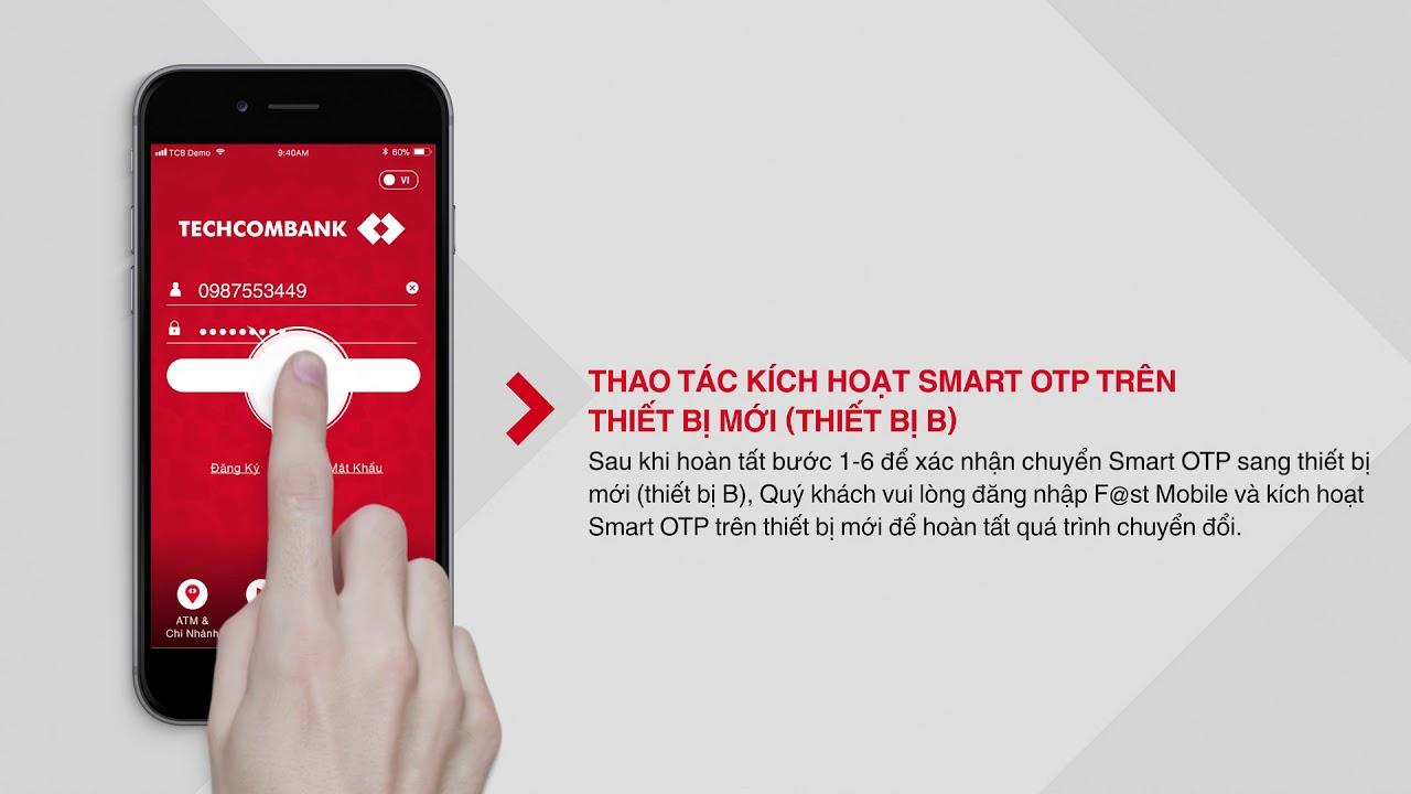 Hướng dẫn thực hiện hủy và đăng ký lại Smart OTP trên E-Banking Techcombank