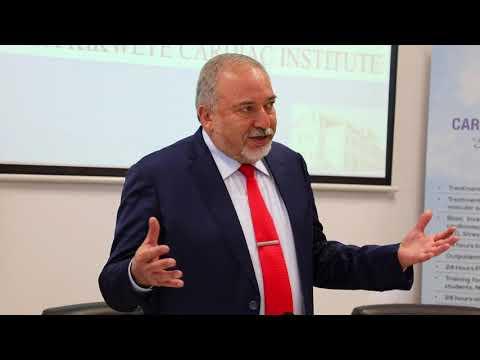 Israeli Defense Minister, Avigdor Liberman, Addresses Press in Tanzania