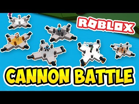 CANNON BOAT BATTLE IN ROBLOX - Roblox Build a Boat for Treasure