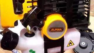 Мотокоса Alpina TB 250 JD распаковка и сборка