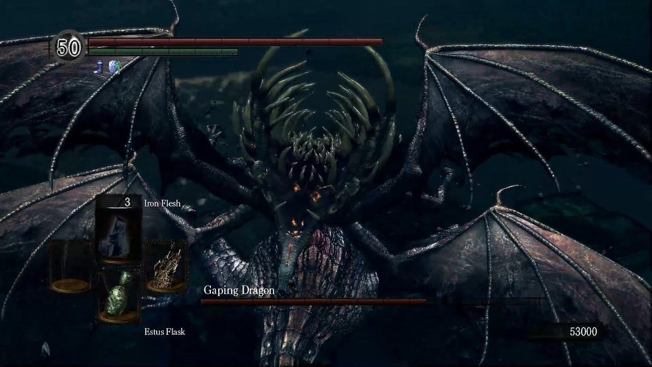 dark souls gaping dragon playable vs laurentius and