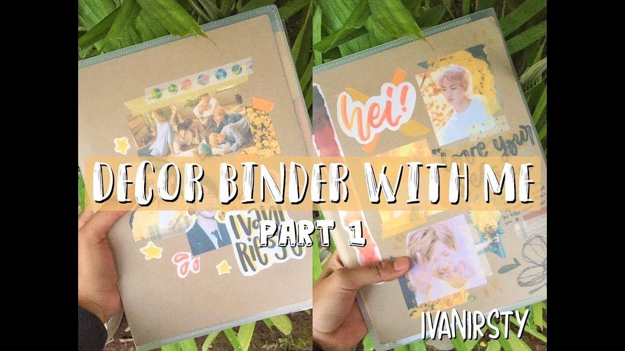 decor binder with me  bahasa indonesia  youtube
