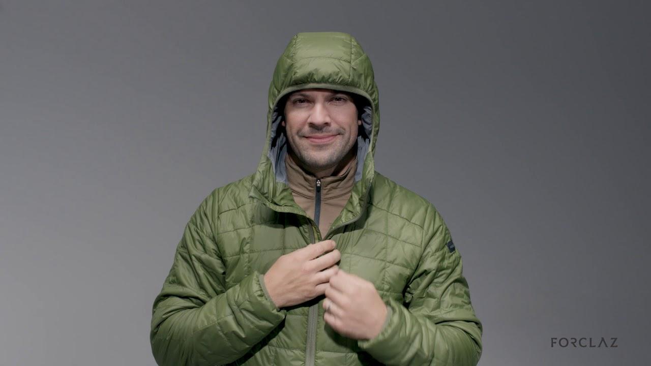 6e15cf453bd Man Padded jacket Trek 100 - FORCLAZ by Decathlon - YouTube