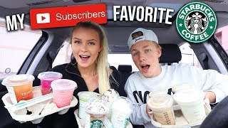 trying-my-subscribers-favorite-starbucks-drinks