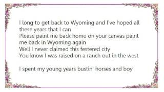 Watch Chris Ledoux Paint Me Back Home In Wyoming video