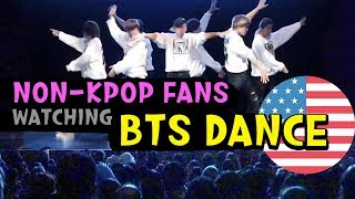 미국 학부모 리액션 🔥Real Non-Kpop Fans Public Reaction BTS (방탄소년단) - I Need U Dance Cover