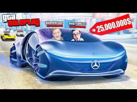 УГНАЛИ НОВЫЙ MERCEDES AVTR VISION ЗА 25.000.000$! ЭЛЕКТРОКАР БУДУЩЕГО! (GTA 5 RP)