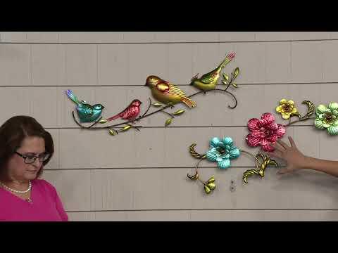 Plow & Hearth Watercolor Butterfly, Flower or Bird Wall Art on QVC