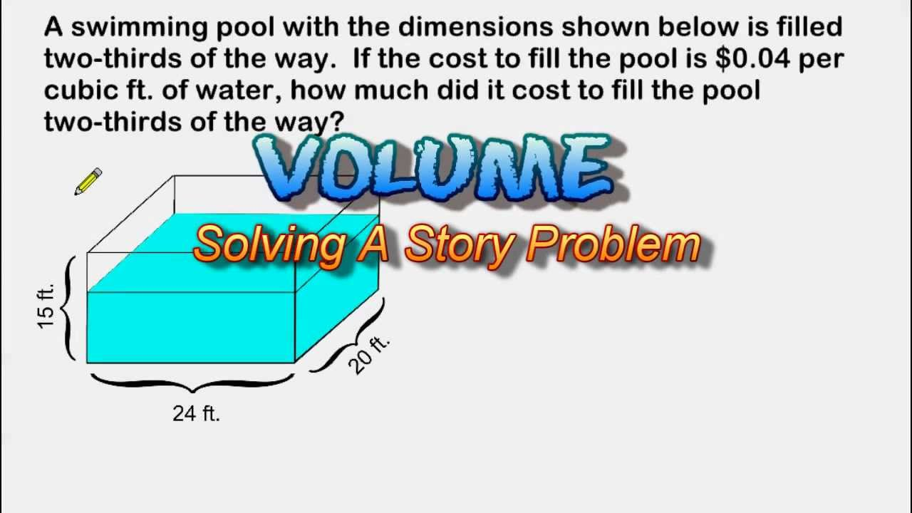 small resolution of Volume Story Problem - Capacity And Cost - YouTube