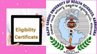 Rajiv Gandhi University  Eligiblity Certificate Online  യോഗ്യതാ certificate