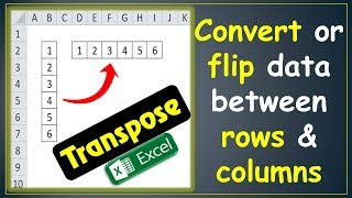 [Easy Way] How to Convert Row to Column in excel (Vertical to Horizontal) | Transpose Data in Excel