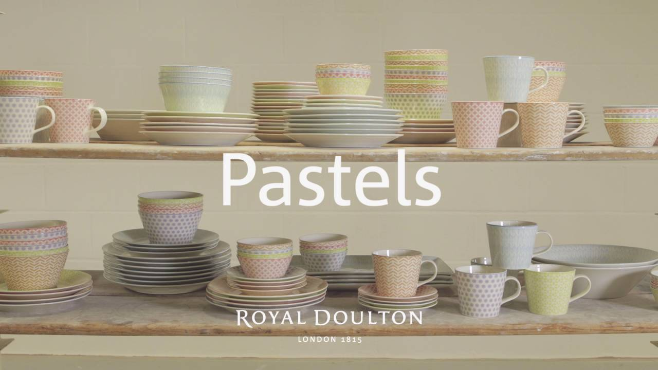 Royal Doulton Pastels Tableware & Royal Doulton: Pastels Tableware - YouTube