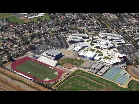 Dublin High School California from the air. 2017.