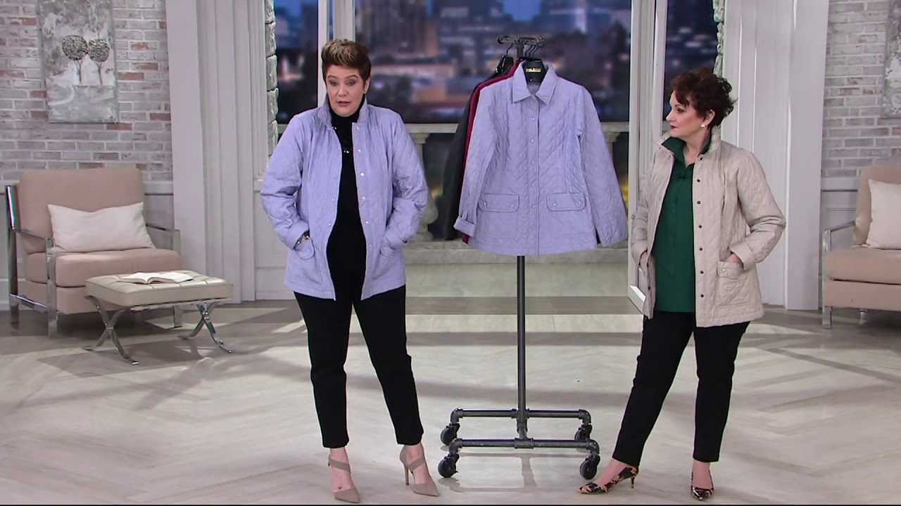 596ff6492 Joan Rivers Quilted Barn Jacket with Pocket Detail on QVC