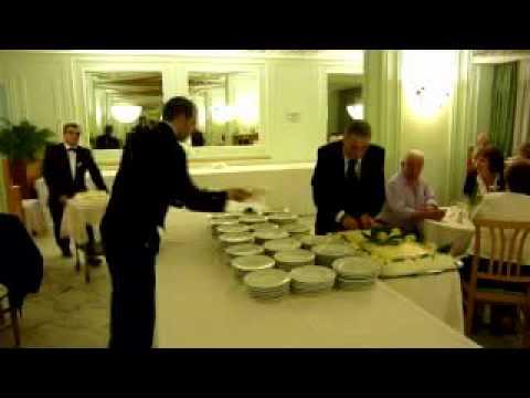 Atlantic Palace Hotel, Italy, Sorrento, Itálie, Sorento, gala večeře, porcování dortu