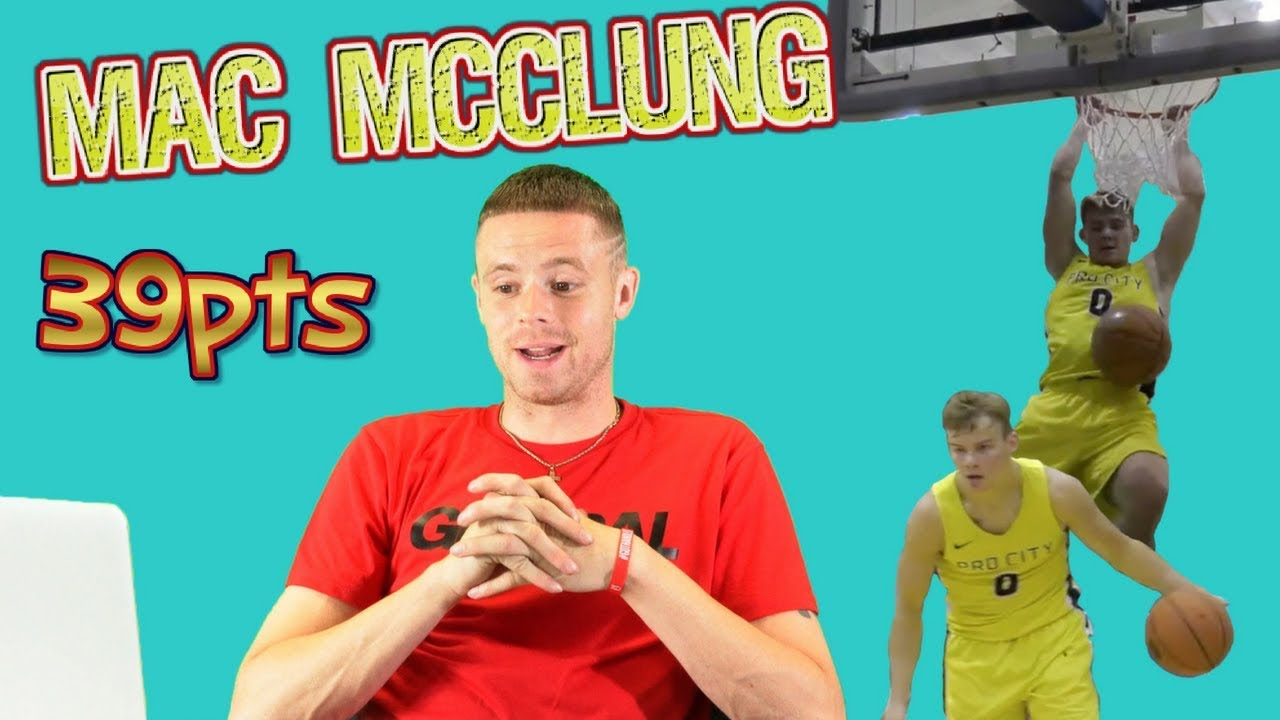 Professor Reacts to Mac McClung Georgetown Kenner League 39 points, INSANE dunks!