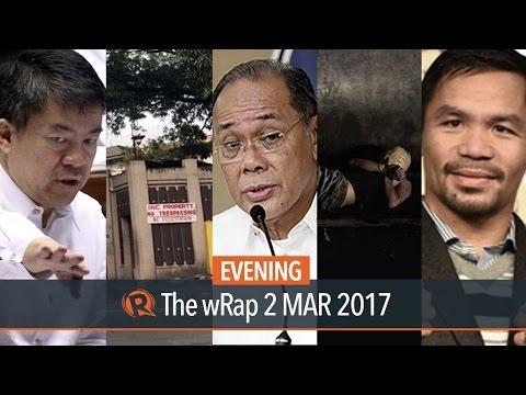 Extrajudicial killings, Iglesia ni Cristo, Pacquiao   Evening wRap