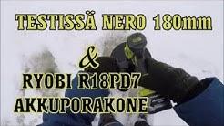 Testissä NERO Jääkaira Adapterilla 180mm & Ryobi Akkuporakone