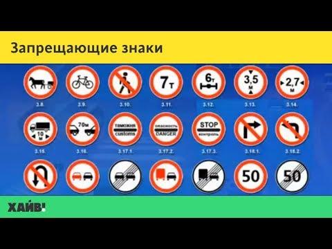 ПДД 2018. Дорожные знаки: запрещающие знаки