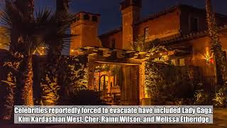 The Bachelor mansion burned by California fires as celebrities flee area