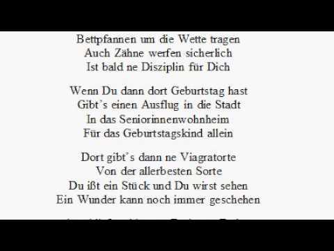 Gedicht Zum Geburtstag   Wettkampf Im Altersheim   YouTube