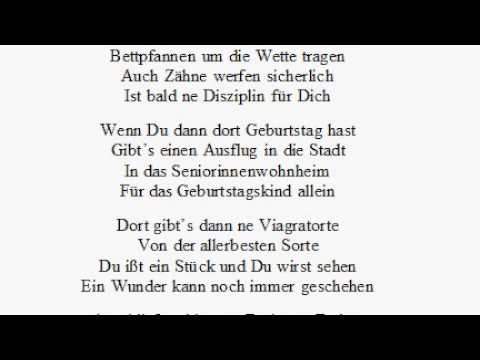 Gedicht Zum Geburtstag Wettkampf Im Altersheim Lustig Lustig Tralalala