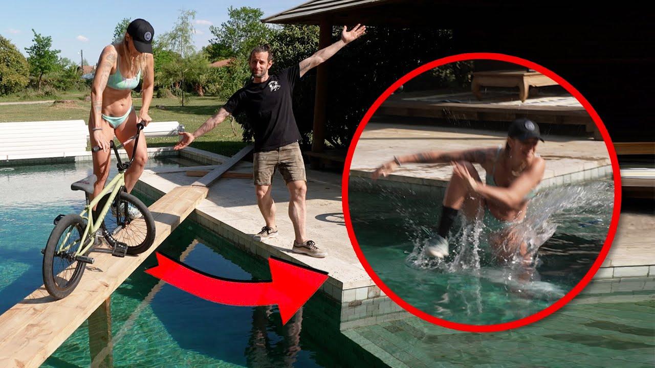 BMX : tu rates ton tricks, tu tombes dans l'eau ! (avec Raphael Chiquet et Céline Vaes)