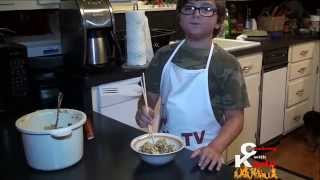 Cooking With Kade | Makes A Cajun Shrimp Fried Rice Recipe