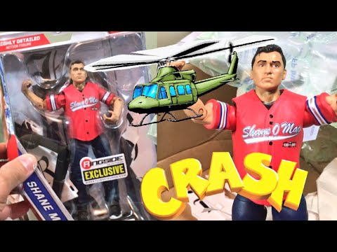 HELICOPTER CRASH EXCLUSIVE SHANE MCMAHON WRESTLING FIGURE UNBOXING AND REVIEW!