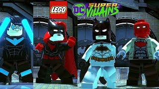 LEGO DC Super Villains All Bat Family Characters and Vehicles + Batcave Free Roam